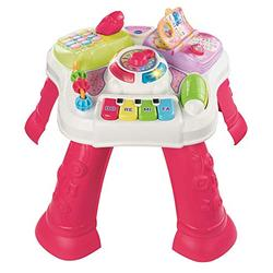 VTech Play & Learn Baby Activity Table, Baby Play Centre, Educational Baby Musical Toy with Shape Sorting, Sound Toy with Music Styles for Babies & Toddlers From 6 Months+, Boys & Girls, Pink
