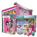 Liscianigiochi Barbie Dream House Pretend Play Doll House Two - Storey Holiday Villa, Arrange Furniture And Decorate - Malibu House With Doll