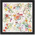 Flora Snake Print Silk Scarf - White - Gucci Scarves