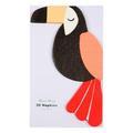 Meri Meri - Pack of 20 Go Wild Toucan Party Napkins