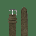 Paulin - 18mm & 20mm Suede Watch Strap - 18 | Light Grey Suede - Grey/Blue/Green