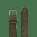 Paulin - 18mm & 20mm Suede Watch Strap - 20 | Olive Suede - Grey/Blue/Green