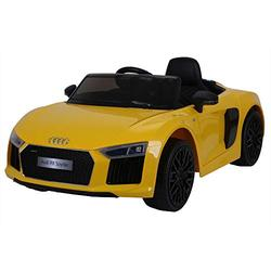 Audi Licensed TT RS 12V OutdoorToys Children's Battery Operated Rechargeable Kids Electric Ride On Toy Car with 2.4G Parental Remote Control, Yellow