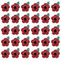babytowns 30pcs Poppy Flower Brooch Lapel Pin Crystal Diamante Enamel Badges Ribbon Red Flowers for Banquet Legion Remembrance Day Gift