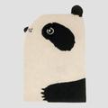 EO - 70 x 100cm Wool Tufted Panda Rug - wool   black and white
