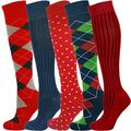 Mysocks Unisex Knee High Polka Dot Socks 5 Pairs Multi Design 754 4-7