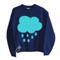 Little Mashers - Raincloud Glow in The Dark Sweatshirts - cotton | grey | 5-6 years - Grey/Grey/Navy