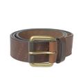Vida Vida - Dark Tan Leather and Brass Awesome Mens Belt - leather/brass | dark tan | medium