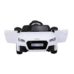 Ricco TOYS AUDI TT RS Lisenced Battery Powered Kids Electric Ride On Toy Car with Parental Remote Control (WHITE)