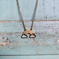 vintage bay - Gold Rainbow Cloud Necklace - gold - Gold/Gold