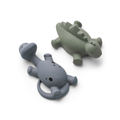 Liewood - Pack of 2 Grey and Green Dino Algi Bath Toys - rubber | Grey and Green