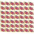 rhungift Metal United Kingdom Flag Lapel Pin Waving Union Jack UK Flag Pins Bulk Patriotic Britsh Badges Series (50pack)