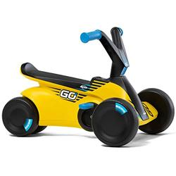 Berg 24.50.04.00 GO² 2-in-1 Slide Car   Ride-On and Balance Bike, Children's Ride-On Car with Fold-Out Pedals, Pedal Gokart, Children's Toy Suitable for Children Aged 10-30 Months (Yellow)