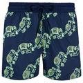 Stretch Swimwear Elephant Dance Glow In The Dark - Blue - Vilebrequin Beachwear