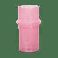 Urban Nature Culture - Pink Recycled Glass Vase - 9,5 cm x 20 cm   glass   pink - Pink/Pink