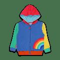 Toby Tiger - Rainbow Organic Applique Hoodie - 3-4y