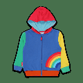 Toby Tiger - Rainbow Organic Applique Hoodie - 3-6M