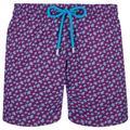 Stretch Swimwear Micro Ronde Des Tortues - Purple - Vilebrequin Beachwear