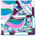 Square Printed Scarf - Blue - Emilio Pucci Scarves