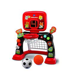 VTech 2-in-1 Sports Centre, Baby Interactive Toy with Colours and Sounds, Educational Games for Kids, Learning Toys with Role-Play, Suitable for Baby Boys and Girls from 12 to 36 Months (Red/Black)