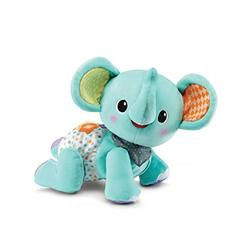 VTech Crawl with Me Elephant, Baby Music Toy for Sensory Play, Educational Toys with Numbers and Colours, Baby Interactive Toy for Toddlers, Musical Toy Suitable for Boys and Girls 9 Months +
