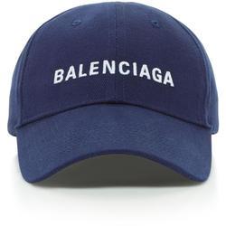 Embroidered Cotton-twill Baseball Cap - Blue - Balenciaga Hats