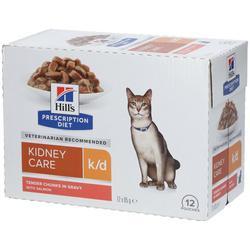 Hill's PRESCRIPTION DIET k/d Alimento per Gatti con Salmone 85 g Busti