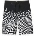 Vans Boy's Pixelated Boardshort Shorts, Black (Black BLK), Small (Size:24)