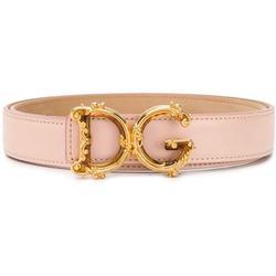 D&g Baroque Buckle Belt - Pink - Dolce & Gabbana Belts