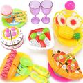 Afternoon Tea Cake Bread Pizza Cut Fruit Pretend Play Toy