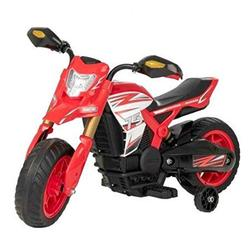 vapewaves KIDS ELECTRONIC RECHARGEABLE BATTERY RIDE - RED - 6V EVO ELECTRONIC RALLY MOTORBIKE - LIMITED EDITION WITH STABLIZER
