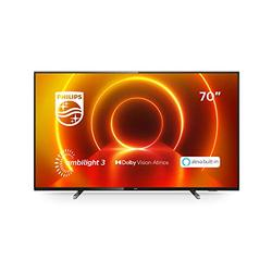 Philips Ambilight 70PUS7805/12 70-Inch LED TV (4K UHD, P5 Perfect Picture Engine, Dolby Vision, Dolby Atmos, HDR 10+, Alexa Built-In, Freeview Play, Saphi Smart TV) Plastic Gun Metal (2020/2021 Model)