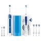 Braun Elektrische Zahnbürste + Munddusche Oral-B Center OxyJet + PRO 2 Weiß, Blau