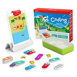 Osmo Coding Starter Kit for iPad - 3 Hands-on Learning Games - Ages 5-10+ - Learn to Code, Coding Basics and Coding Puzzles - iPad Base Included