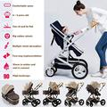 DAGCOT Baby Stroller Travel Pushchair for Newborn Infant Toddler Baby Stroller Pram Carriage Stroller,compact Buggy Strollers,Portable Pram Carriage Anti-Shock Pushchair With Aluminum Frame For Baby G