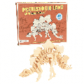 Rex London - Prehistoric Land Stegosaurus 3D Wooden Puzzle - wood