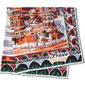 Pittoresque Moscow Printed Foulard - Orange - Prada Scarves