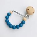 Mama Knows - Silicone Dummy Clips Various Colours - Denim