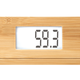 SOEHNLE Bamboo Digitale Personenwaage, Hochwertige, hygienische Wiegefläche aus echtem Bambus, Farbe: Natural