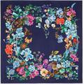 Fiorile Floral-printed Silk Scarf - Blue - Ferragamo Scarves
