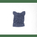 Wedoble - Bunny Ears Knitted Hat - Graphite / T3- 9m