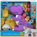 VTech Learn and Dance Dino Baby Interactive Toy, Educational Baby Musical Toy Sorting Sound Toy with Different Music Styles for Babies & Toddlers from 2 Years Old - Mauve