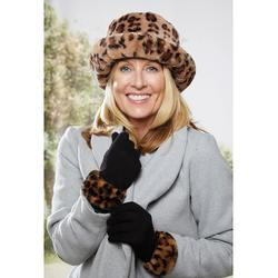 Hat Glove Set in Leopard by Coopers of Stortford