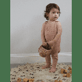 lal & nil - Sunset Knit Dungarees - 6-12 months