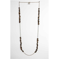 REGINA Dabdab - Tiger Eye And Bronze Gold Plated Necklace