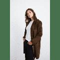 Velvet Tees - Olive Velvet Meryl Coat - XS / Olive