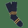 Escuyer - Striped Socks 39-45 - Navy / Off White