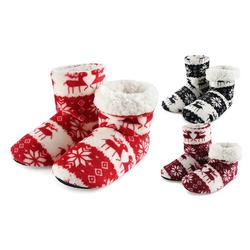 Winter Slipper Socks: Red/39-41/One Pair