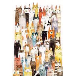 Wapipey Cartoon Pattern Puzzle The Cats Jigsaw Puzzle 1000 Pieces Wooden Puzzle Adult Decompression Puzzles Kids Educational Toys HD Printed Poster Jigsaw Puzzle Home Puzzle Game Gift