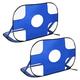 HOMCOM Fußballtor im 2er Set blau 123 x 80 x 80 cm (BxTxH) Tragbares Fußballnetz Minitor faltbares Fußballtor